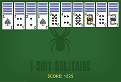Spider Solitaire One Suit