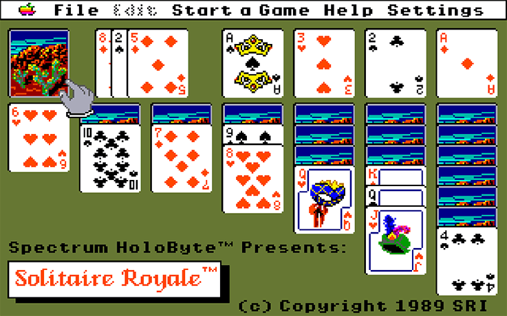 Solitaire Royal, the first commercial Solitaire game, developed in 1989